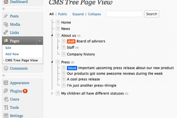 CMS Tree PageView