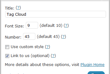 Rounded Tag Cloud