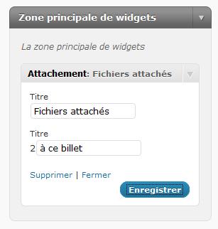 Attachement Widget