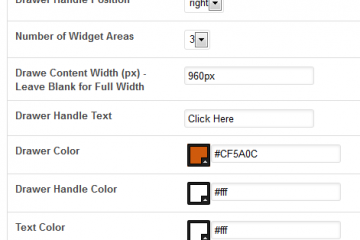 WordPress Sliding Drawer Content Area