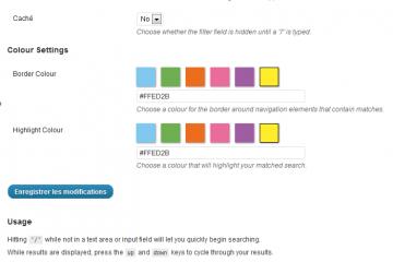 Live Admin Navigation Filter