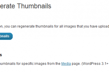 Force Regenerate Thumbnails