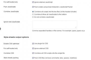 JS CSS Script Optimizer et WP Minify