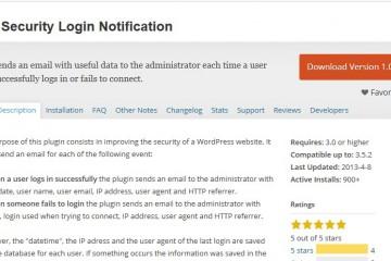 WP Security Login Notification