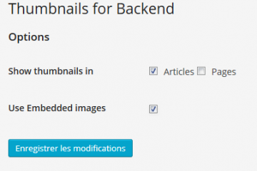 Thumbnails for Backend