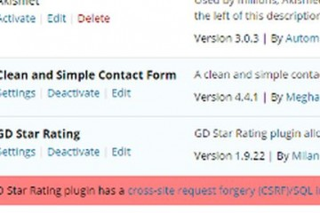 Plugin Vulnerabilities