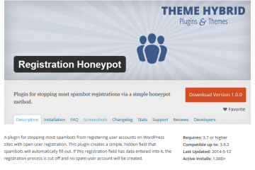 Registration Honeypot