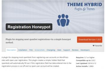 Registration Honeypot