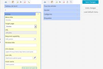 Deux plugins pour personnaliser le menu d'administration