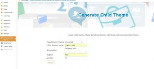 generate-child-theme-creation