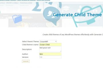 Generate ChildTheme