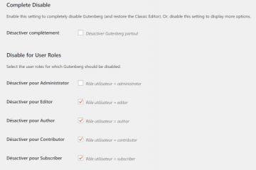Disable Gutenberg