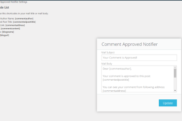 Comment Approved Notifier Extended
