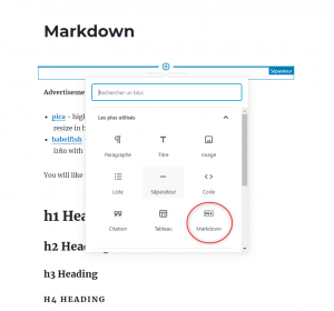 gutenberg-markdown-bloc