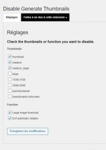 Disable Generate Thumbnails Options
